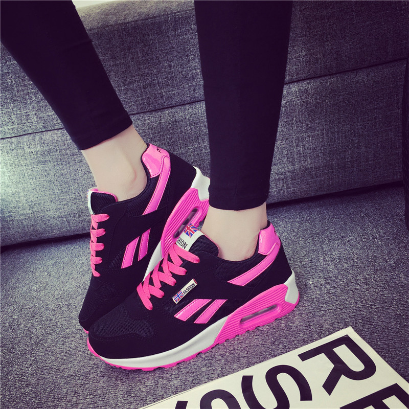 2019 Hot Sale Casual Shoes Women Air Cushion Vulcanized Shoes Breathable Fashion Female Sneakers Basket Chaussure Sport Femme