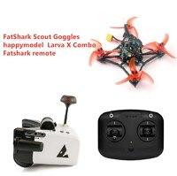 New Fatshark FPV Racing drone combo Happymodel Larva X Racing Drone with Runcam 200mw vtx + Fatshark Scout goggles + Transmitter