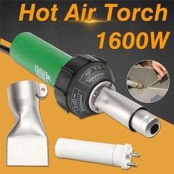 AC 220V 1600W 50/60Hz горячего воздуха факел Пластик сварочный пистолет для сварщика + плоский нос цена оптовой продажи