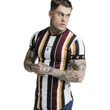 2019 nueva Camiseta deportiva para hombre de verano para correr camisetas de entrenamiento para culturismo para hombre de manga corta ajustada camisetas de algodón