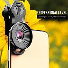 Apexel hd 10Xスーパーマクロレンズ電話カメラ携帯マクロレンズiphone x xs最大サムスンs9 s10 xiaomi redmiすべてのスマートフォン