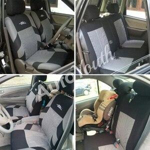Image 4 - AUTOYOUTH Embroideryรถที่นั่งครอบคลุมชุดUniversal Fitรถยนต์ส่วนใหญ่ครอบคลุมยางTrackรายละเอียดStyling Car Seat Protector