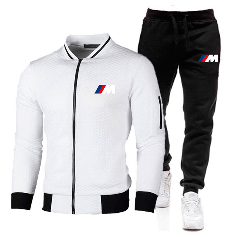 2021 New Fall Men's Casual Sports 2-Piece Printed Sports Suit Jacket + Pants Sportswear Men Sportswear Asian Casual Men's Set