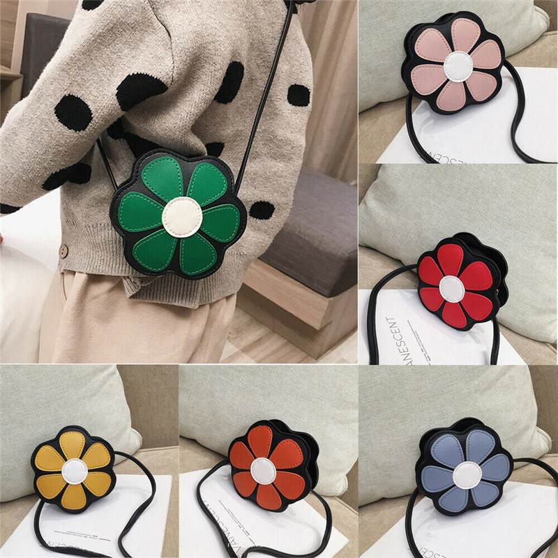 New Fashion Cute Flower Shaped Purses Beauty Shoulder Crossbody Bag For Kids Toddler Girls Lovely