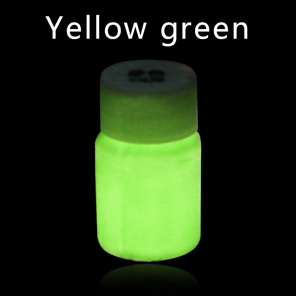 20g Yellow Green Glow In The Dark Luminous Paint Shining For Home Party Christmas Decoration Pigment Acrylic Fluorescent Paint