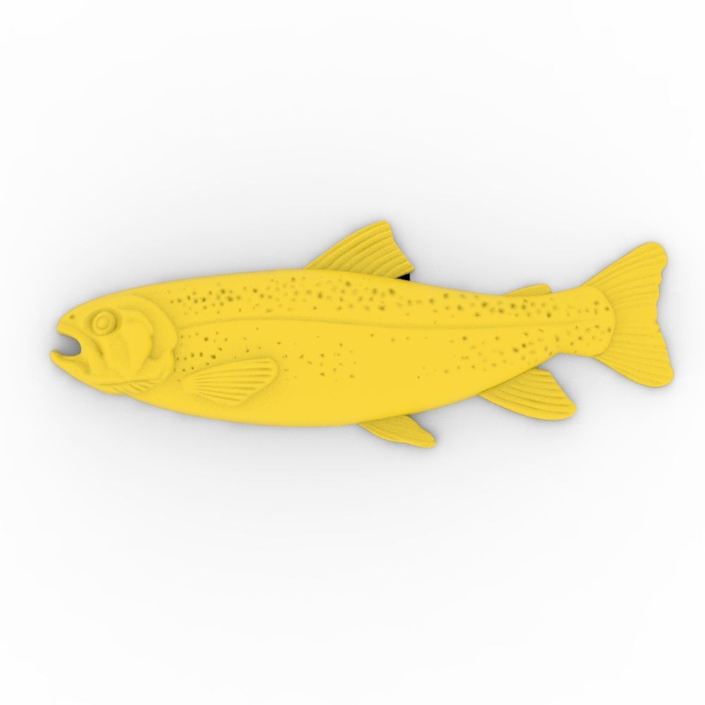 2 Files Poor Fish Relief 3D Model STL Format File CNC Router Carving ArtCAM Aspire Type3 JDpaint Engraving Carving File A2068
