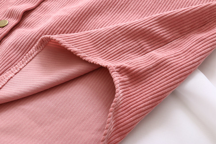 New Women Solid Corduroy Batwing Sleeve Vintage Blouse Turn-Down Collar Loose Top Button Up Pink Shirt Feminina Blusa T9D609T