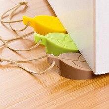 Originality Leaf Silica Gel Door Block Children Defence Mix Hand Emergency Door Card Three-dimensional Can Door Hanger