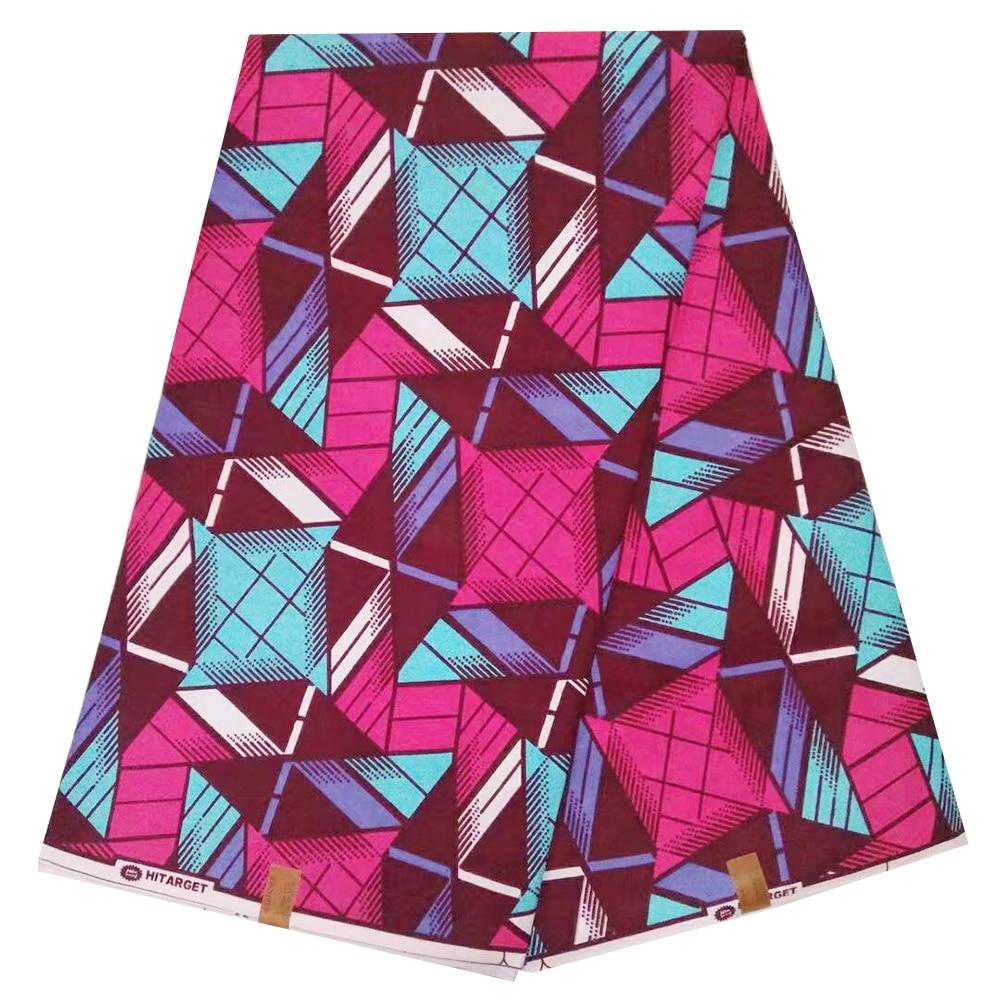 African Wax Fabric Veritable Real Wax 100% Cotton Block Print Ankara Nigerian Wax Fabrics For Dress Pange 11.11 Sale Price