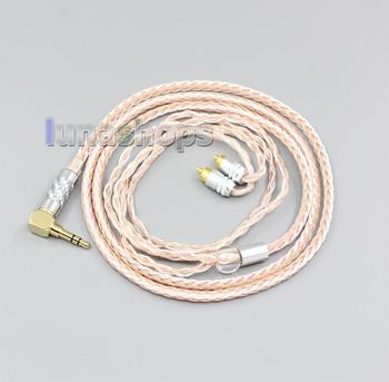 2.5mm 3.5mm XLR Balanced 16 Core OCC Silver Mixed Headphone Cable For Sony IER-M7 IER-M9 IER-Z1R LN006473