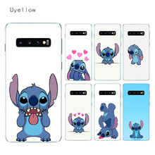Uyellow Silicone Soft Case For Samsung S8 S9 S10 S10E Plus J4 J6 J8 A6 A7 A8 A9 2018 Note 8 9 10 Pro Disneys Stitches Cover