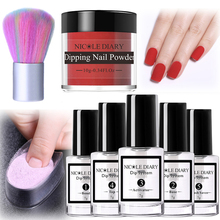 8Pcs/set Matte Dipping Nail Glitter Powder Kits Pink Gradient French Chrome Pigment Natural Fast Dry Without Lamp Cure 6/4pcs