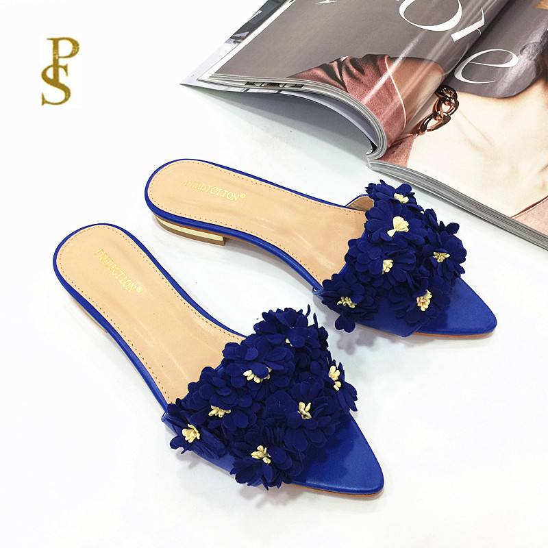 Image 4 - Womens shoes with flowers flat shoes pointed shoes lovely shoesSlippers   -