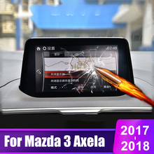 For Mazda 3 Axela 2017 2018 Tempered Glass Car DVD GPS Navigation Screen Protector LCD Touch Display Film Fit Protective Sticker car tempered glass screen protective film sticker gps multimedia lcd guard for vw volkswagen 2017 2018 tiguan mk2 accessories