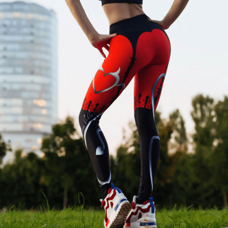 Women Trousers Sports Running Tights Capri Legging Pants Printed Dance Wear Yago Compression Bottom Fitness Clothing Gym Clothes