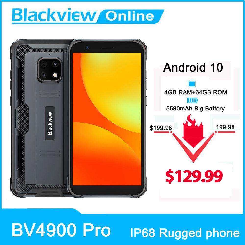 Blackview BV4900 Pro IP68 étanche Smartphone 4GB + 64GB 5580mAh 13MP caméra téléphone robuste 5.7 pouces téléphone portable 4G téléphone portable