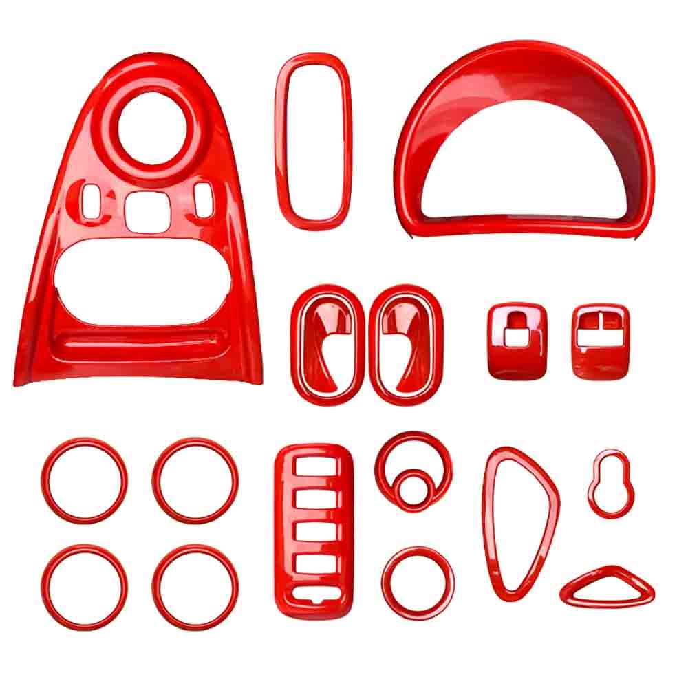 High Quality Red Color Car Interior Decoration Armrest Mat For Mercedes Smart 453 Fortwo Forfour Car Moulding