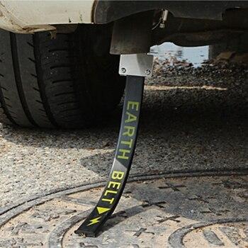 Electricidad estática del automóvil con cable de cobre único, cinturón de Metal de estilo para el coche, evita cancelador de cinta electrostática del coche 1