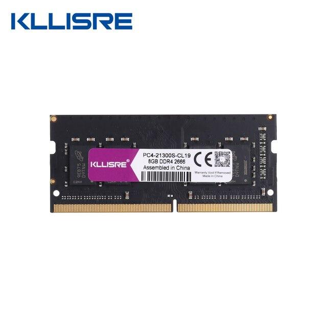 Kllisre ddr4 4GB 8GB 16GB 2133 2400 2666 3000 ram sodimm laptop memory support memoria ddr4 notebook