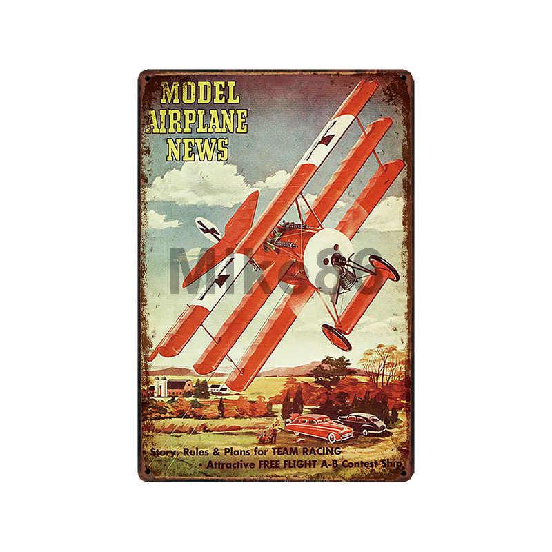 [Mike86] 飛行機戦闘機ピンアップミリタリー世界で 2 金属ヴィンテージレトロ鉄絵のポスターアート 20*30 センチメートル LT-1834