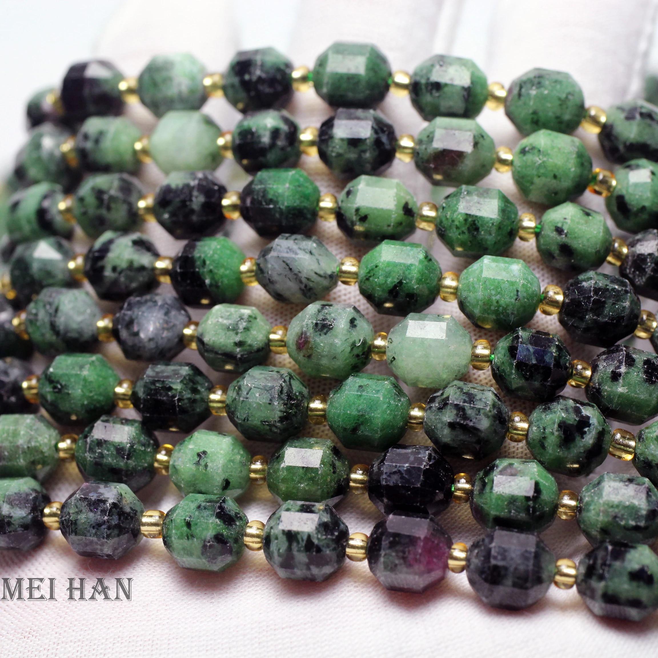 Seraphinite 8/'/' Africa Faceted Almond 1 Strand Gemstone EB0356 Jewelry Beads   Handmade  Natural