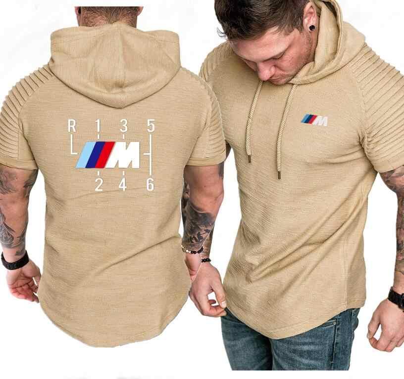 M3/M4/M5 Korte Mouw Truien Mannen Zomer Casual Hoodie hip hop Trainingspak Hoody Motorsport Shifter M Power hooded Sweatshirts
