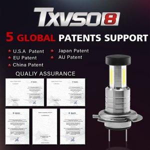 Image 2 - TXVSO8 2020 Led H7 Headlight 6000K White Light Lamp Universal COB Mini Car Bulbs 110W/set 26000LM Focos Led Automovil