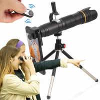 Lente de Zoom de cámara de telescopio Orsda 4K HD 16-35X para teléfono inteligente Lente Celular 3 secciones ajustables lentes de telefoto de teléfono Celular