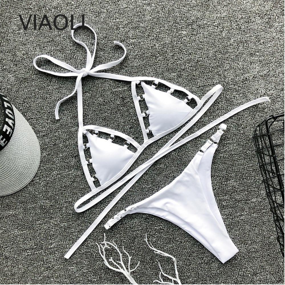 Hot Swimwear Women Bandage Bikini Set Sexy Low Waist Swimsuit White Bikinis Maillot De Bain Feme Beachwear Bathing Suit Biquinis| |   - AliExpress
