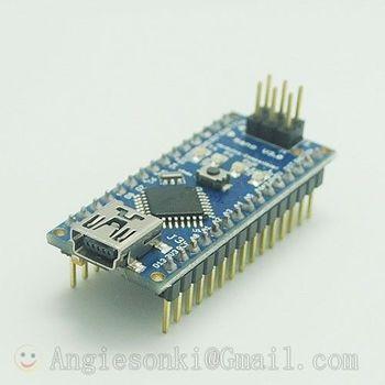 Ücretsiz kargo yeni Arduin Nano V3.0 ATmega328 5V mikro denetleyici devre kartı modülü + Mini USB kablosu 6 PWM bağlantı noktaları 12 dijital giriş