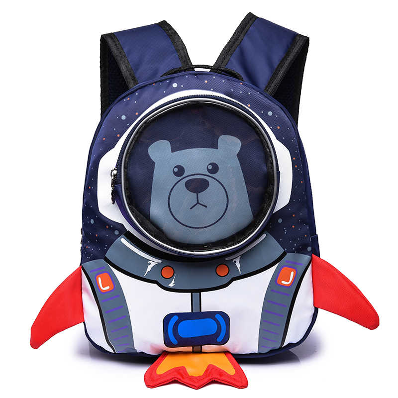 Cute 3D Rocket Astronaut Small Backpack Kids Bag Baby Kindergarten Preschool Backpacks School Bags for Boys Girls