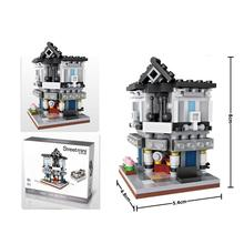hot LegoINGlys city creators Street view Cinema Detective Theater mini Micro Diamond Building Blocks model bricks toys for gifts