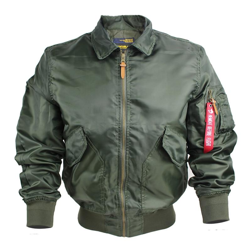 MA-1 Bomber Jacket Men Windbreaker Military Pilot Coat Male Baseball Multi-pocket Jackets Jaqueta masculino European Size