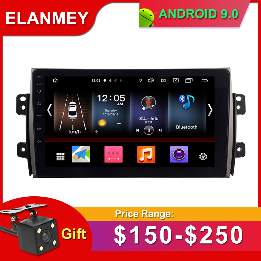 Gift Camera Car Radio for <font><b>SUZUKI</b></font> <font><b>SX4</b></font> 2006-<font><b>2012</b></font> Android 9.0 <font><b>GPS</b></font> Navigation Bluetooth Touch screen Car Audio Stere <font><b>Multimedia</b></font> image