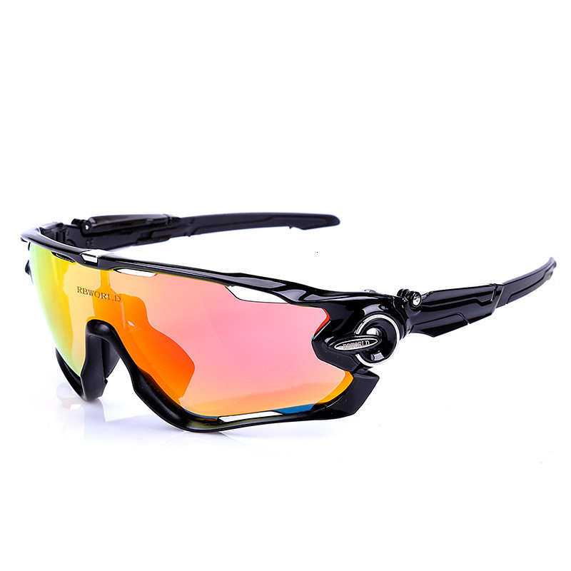 Cycling Glasses Polarized TR90 4-Lens Oem Men's title=