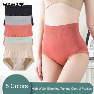 Seamless Shapewear Butt Lifter Slimming Panties With High Waist Sexy Lace Briefs Cotton Crotch Female Underwear Elastic Shapers