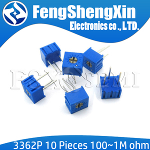 10pcs/lot 3362P Trimpot Trimmer Potentiometer 100 200 500 ohm 1K 2K 5K 10K 20K 50K 100K 200K 500K 1M ohm 103 100R 200R 500R