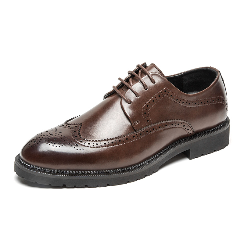 Men's Dress Shoes Fashion Brogue Men Formal Shoes Leather Luxury Wedding Shoes Men Oxford