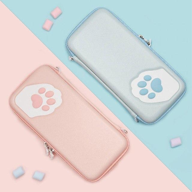Nintendo SWITCH Case Cat Claw CPกระเป๋าNSซิลิโคนHard SHELLฝาครอบสำหรับNintendo SWITCH Liteเกมคอนโซลอุปกรณ์เสริม