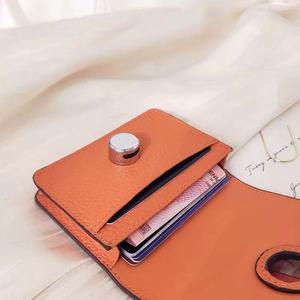 Image 4 - 9 cores de couro genuíno carteiras bolsas moda pequena bolsa de dinheiro luxo mini bolsa de moedas ferrolho design bolsa