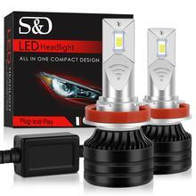 H7 LED H4 H11 H8 H1 led farlar ampuller 80W 18000Lm araba Mini 9005 9006 HB3 HB4 LED H3 ampuller canbus 6500k otomatik sis farları 12V