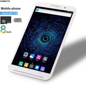 Free Gift 64GB XC TF Card Phablet Tablet 8 Inch Mobile Phone Call Tablet Pc 4G Android 7.0 3G 4G LTE Dual SIM WiFi Bluetooth GPS