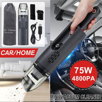 120W Handheld Cordless Wet Dry Car Vacuum Cleaner Strong Power Multifunctional Combined Brush HEPA Auto Portable Vacuums Cleaner car vacuum cleaner wet and dry dual use 12v 120w high power cleaner 3700pa auto portable vacuum cleaner hepa