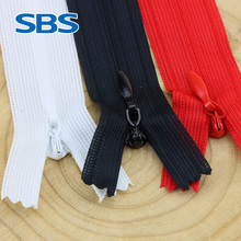 SBS invisible lace zipper dress trousers chain clothes pillow fitting water head back pull closed nylon zipper Black, white, red