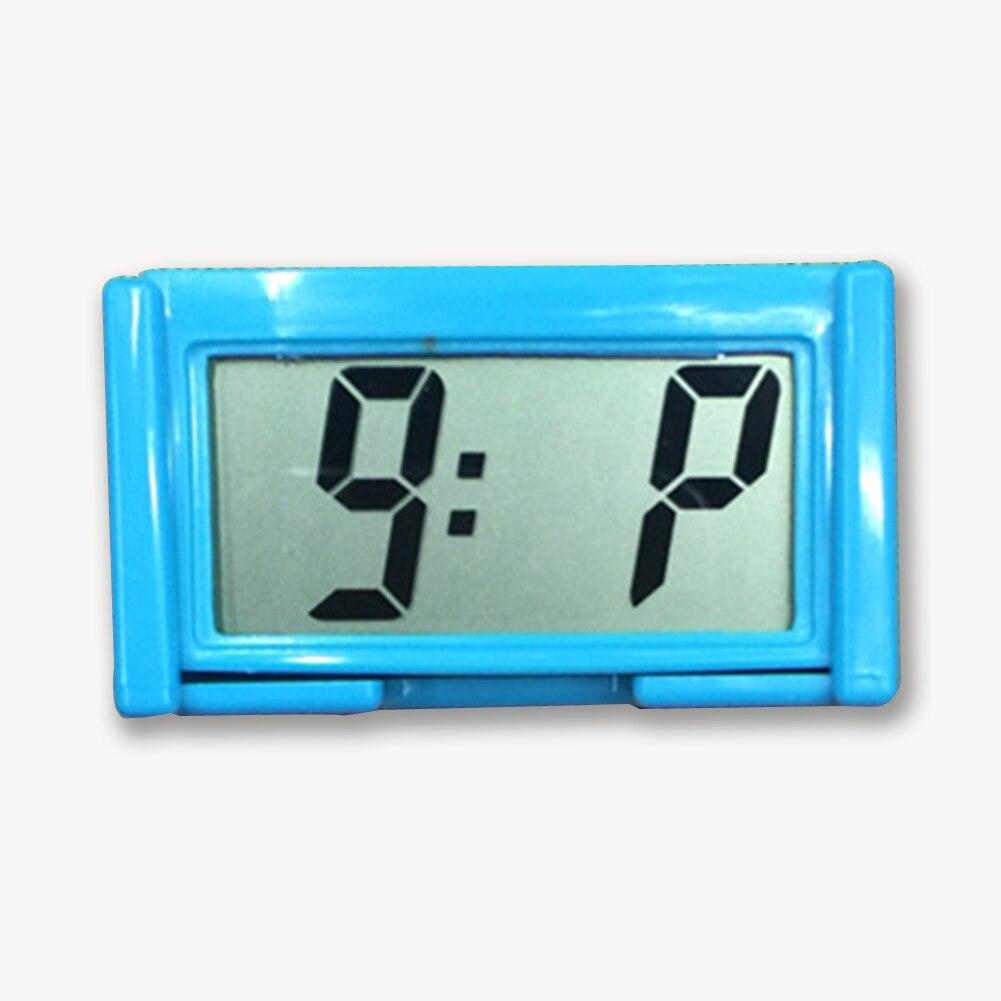 Interior Car Auto Dashboard Desk Digital Clock LCD Screen Self-Adhesive Bracket Car Clock