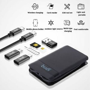 Image 2 - Multi function Universal Smart Adapter Card Storage Box Support Wireless Charging Travel SIM Card Portable Storage Bag Charger
