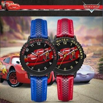 Disney Original Cars Lightning McQueen Jackson Storm Children Quartz Watch Boy Sport Fashion PU Waterproof Watches Kid Gift 2020