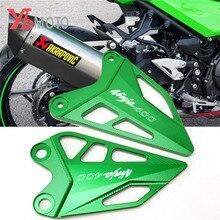 עבור Kawasaki z400 ninja 400 Ninja400 2017 2018 2019 2020 אופני אלומיניום סרט הר העקב משמר רגל יתדות העקב הגנה