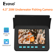 Eyoyo Portable Underwater Fishing Camera 4.3 inch Monitor 20M Cable HD 1000TVL Underwater Video Fishing Camera for Ice Lake Sea 20m professional fish finder underwater fishing video camera monitor 150 degree angle 4 3 inch lcd monitor with 20m cable new