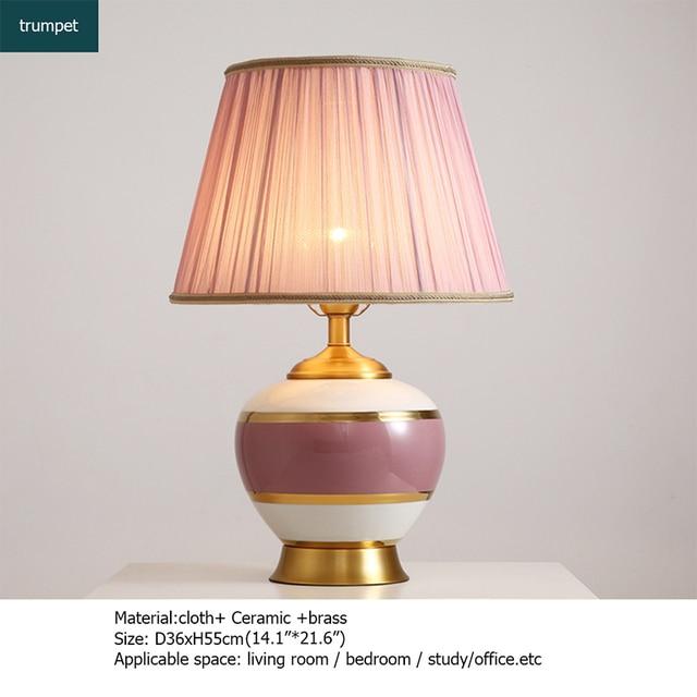 Купить керамические настольные лампы oufula розовый медный настольный картинки цена